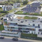 Panneaux solaires sur des appartements