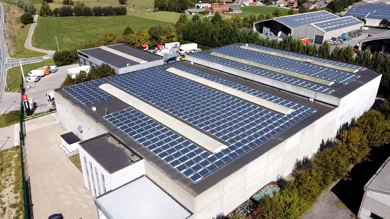 EDSS panneaux solaries Galloo Menen